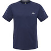 The North Face M's Reaxion Amp Crew S/S Shirt Cosmic Blue Heather